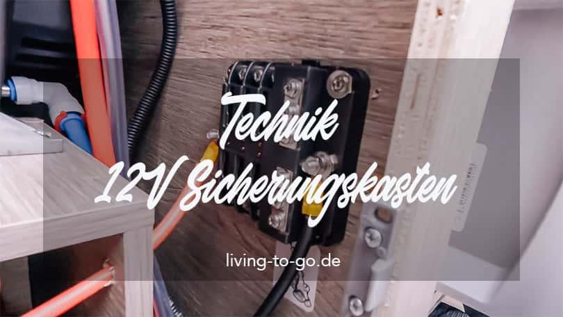 Technik 12V Sicherungskasten