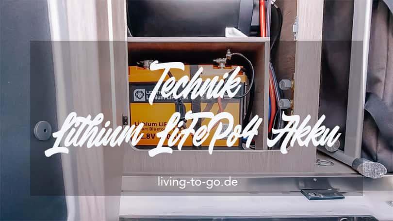 Technik Lithium LiFePo4 Akku