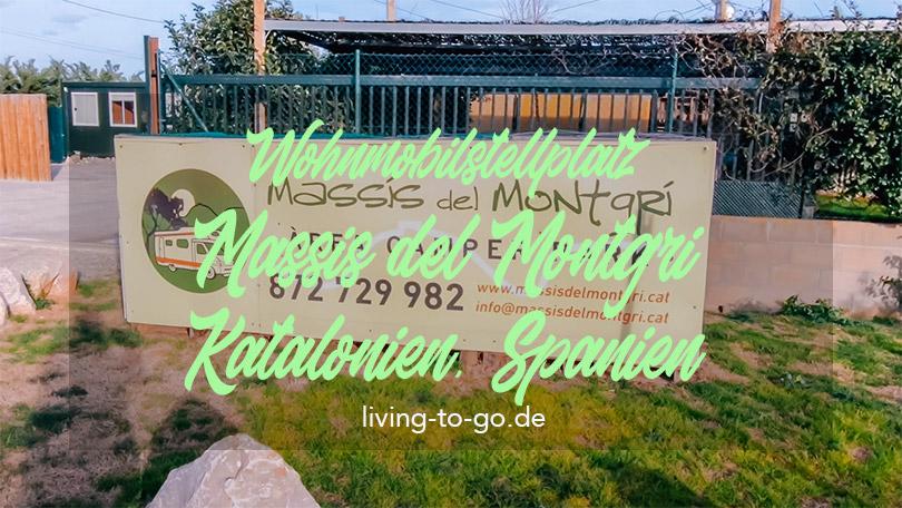 Wohnmobilstellplatz Montgri Spanien