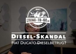 Diesel Skandal bei Fiat Ducato Wohnmobilen