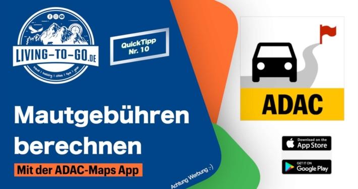 Mautberechnung in Europa ADAC App