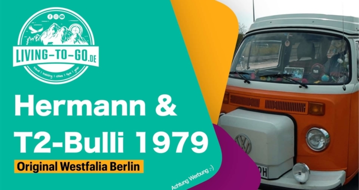 Hermann mit seinem T2-Bulli 1979