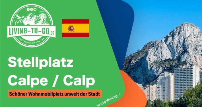 Stellplatz Calpe Alicante Spanien