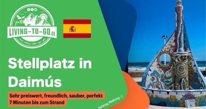 Wohnmobilstellplatz Daimús Spanien