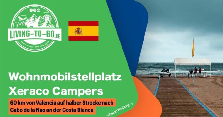 Wohnmobilstellplatz Xeraco Campers Spanien