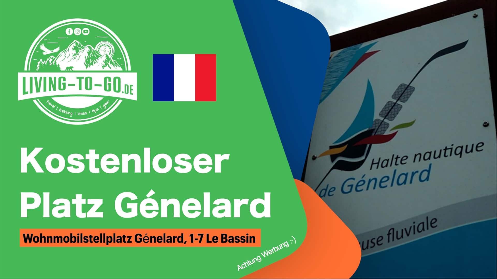 Wohnmobilstellplatz Génelard, 1-7 Le Bassin
