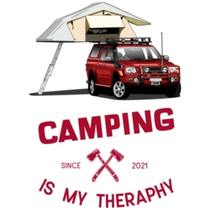 camping-is-my-theraphy-dachzelt-maenner-premium-t-shirt